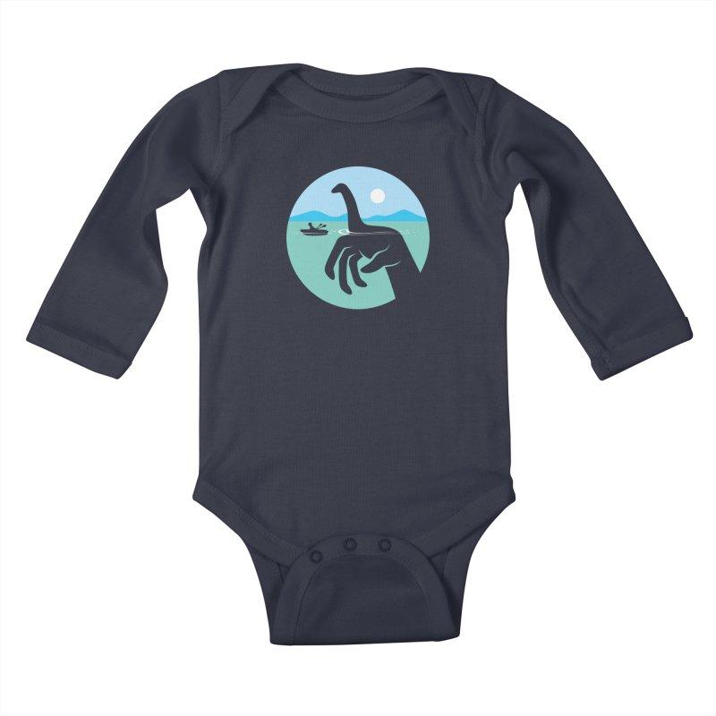 What Lies Beneath Kids Baby Longsleeve Bodysuit by Glennz