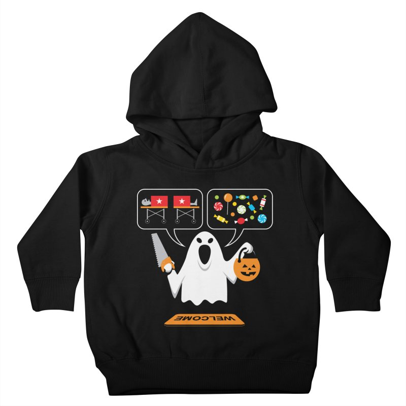 Trick Or Treat Kids Toddler Pullover Hoody by Glennz
