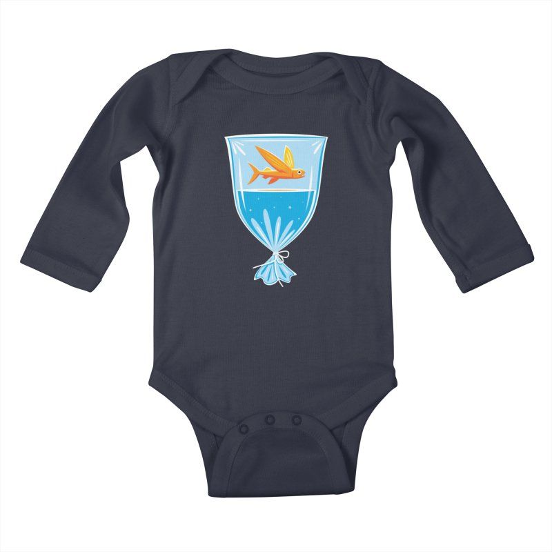 New Fish Kids Baby Longsleeve Bodysuit by Glennz