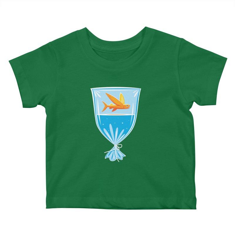 New Fish Kids Baby T-Shirt by Glennz