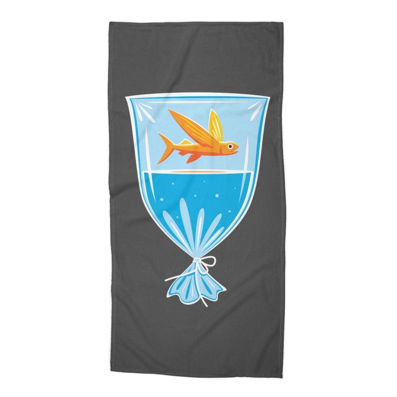 New Fish Accessories Beach Towel by Glennz