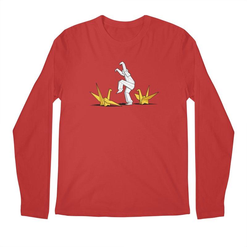 Paper Cranes Men's Longsleeve T-Shirt by Glennz