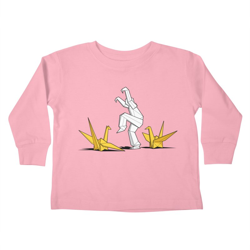 Paper Cranes Kids Toddler Longsleeve T-Shirt by Glennz