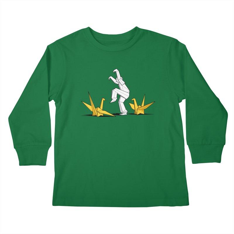 Paper Cranes Kids Longsleeve T-Shirt by Glennz