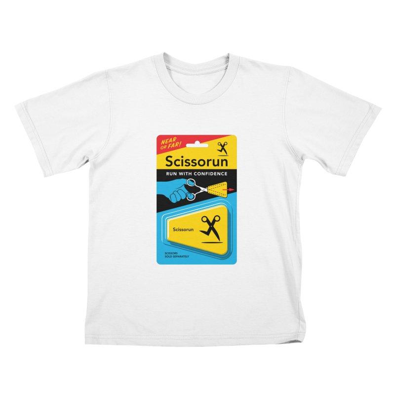Scissorun Kids T-Shirt by Glennz