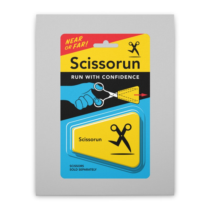 Scissorun Home Stretched Canvas by Glennz
