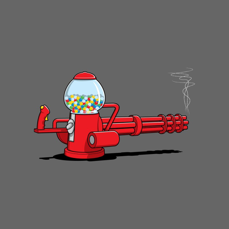 Gumball Machine Gun Men's T-Shirt by Glennz