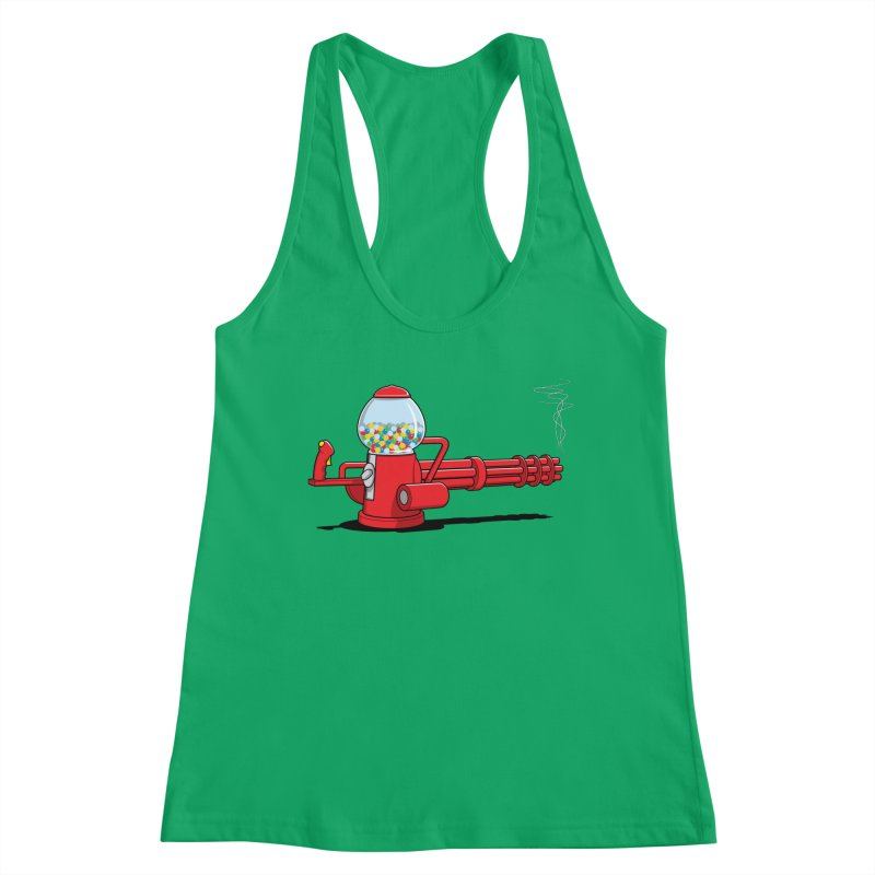 Gumball Machine Gun Women's Tank by Glennz