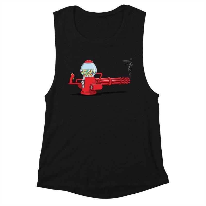Gumball Machine Gun Women's Tank by Glennz