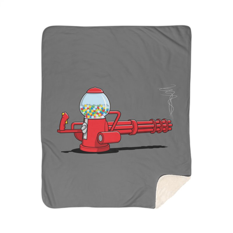 Gumball Machine Gun Home Blanket by Glennz