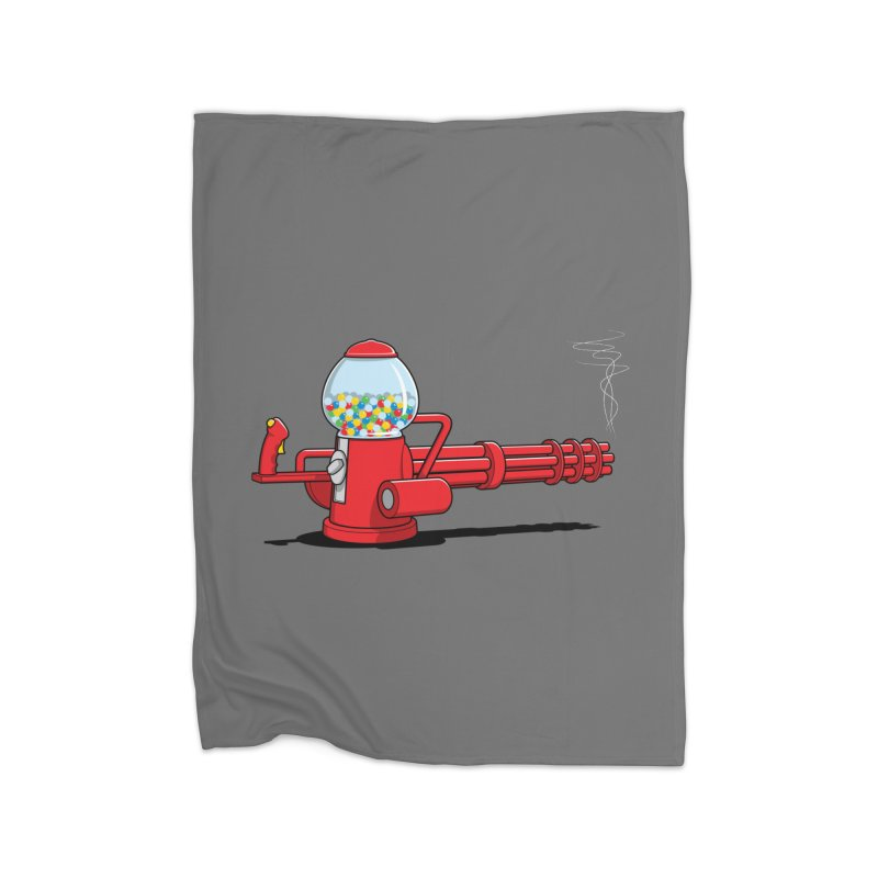 Gumball Machine Gun Home Blanket by Glennz