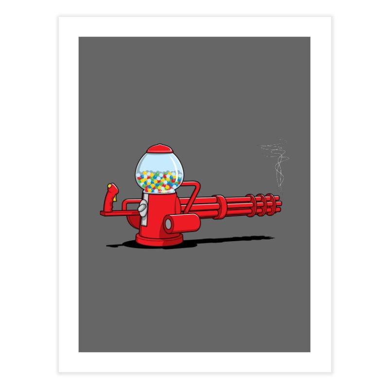 Gumball Machine Gun Home Fine Art Print by Glennz