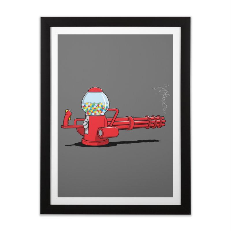 Gumball Machine Gun Home Framed Fine Art Print by Glennz