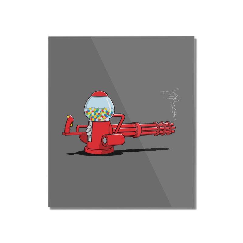 Gumball Machine Gun Home Mounted Acrylic Print by Glennz