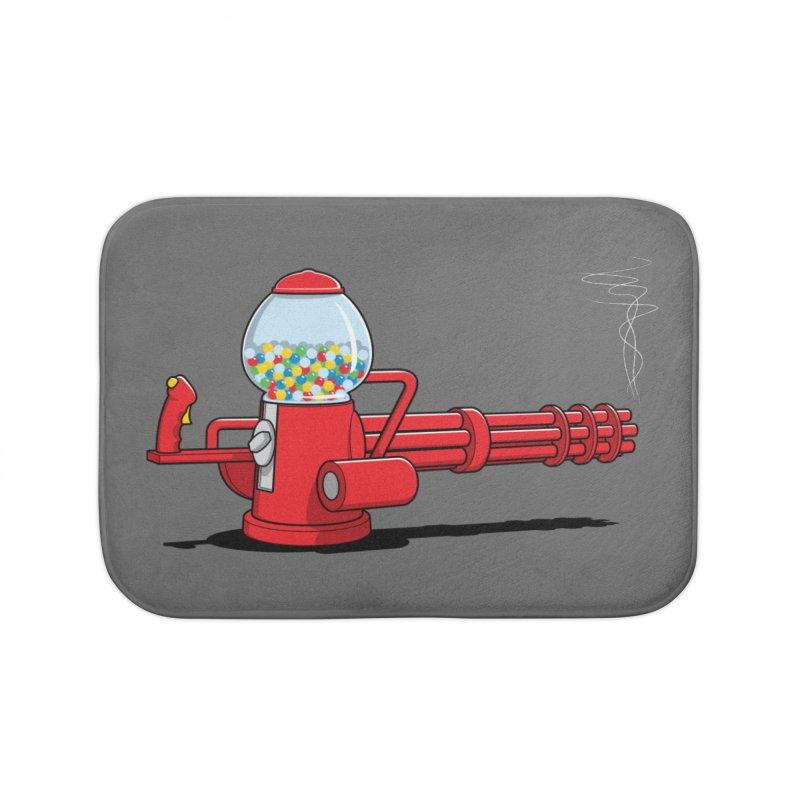Gumball Machine Gun Home Bath Mat by Glennz