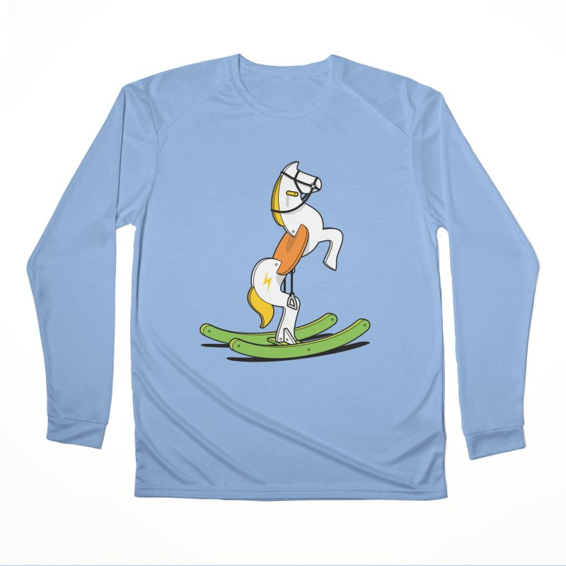 Wild Rocking Horse Women's Longsleeve T-Shirt by Glennz