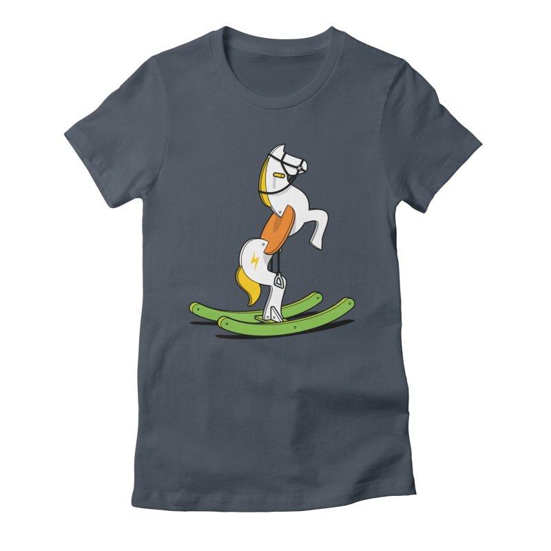 Wild Rocking Horse Women's T-Shirt by Glennz