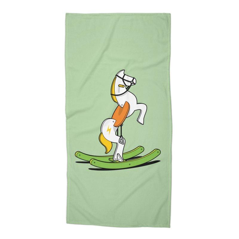 Wild Rocking Horse Accessories Beach Towel by Glennz