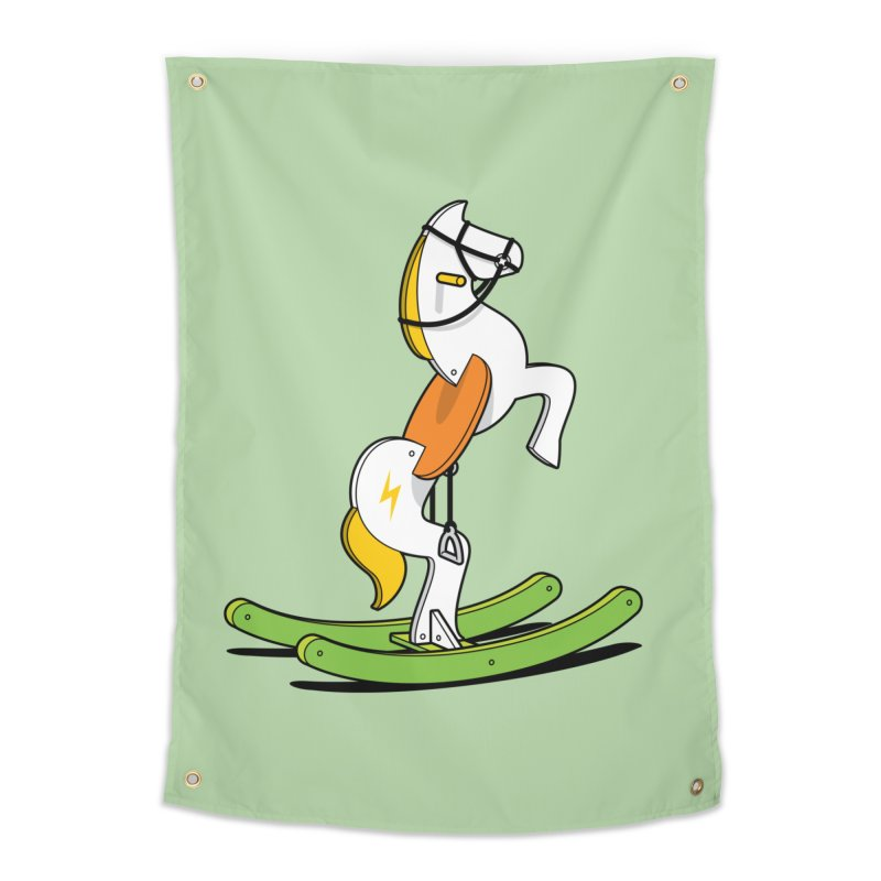Wild Rocking Horse Home Tapestry by Glennz