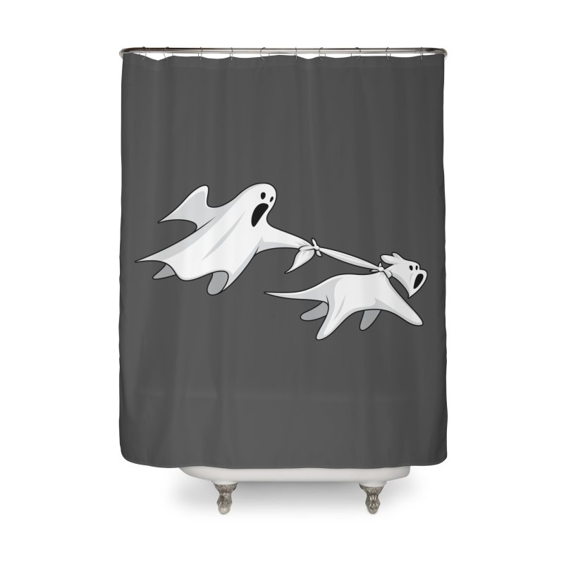 Ghost Dog Home Shower Curtain by Glennz