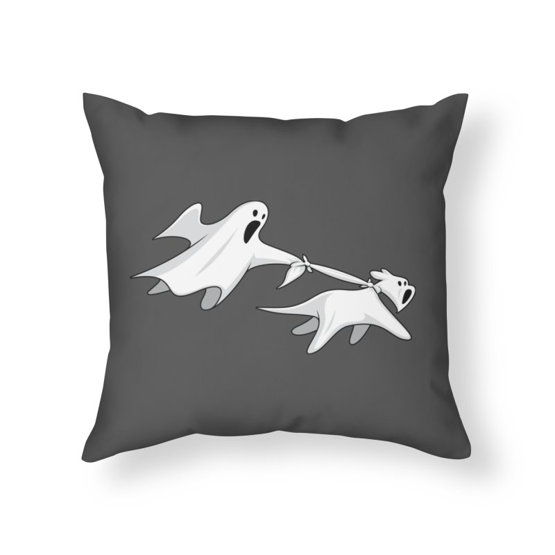 Ghost Dog Home Throw Pillow by Glennz