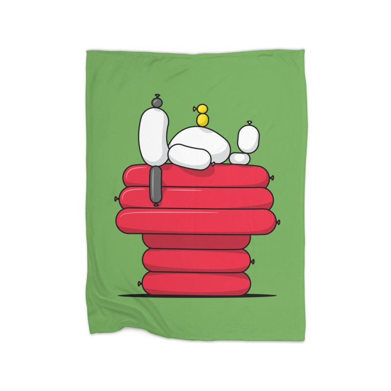 Balloon Dog Home Blanket by Glennz