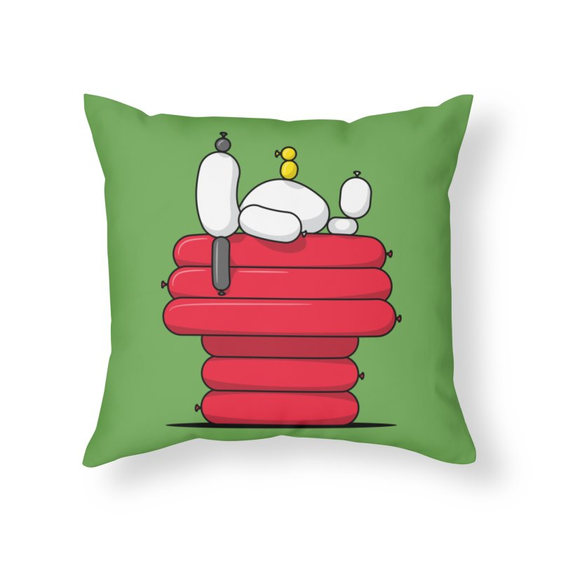 Balloon Dog Home Throw Pillow by Glennz