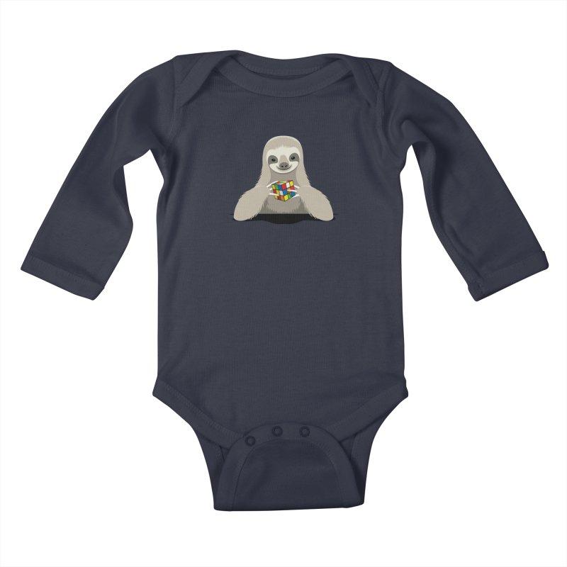 Speed Cuber Kids Baby Longsleeve Bodysuit by Glennz