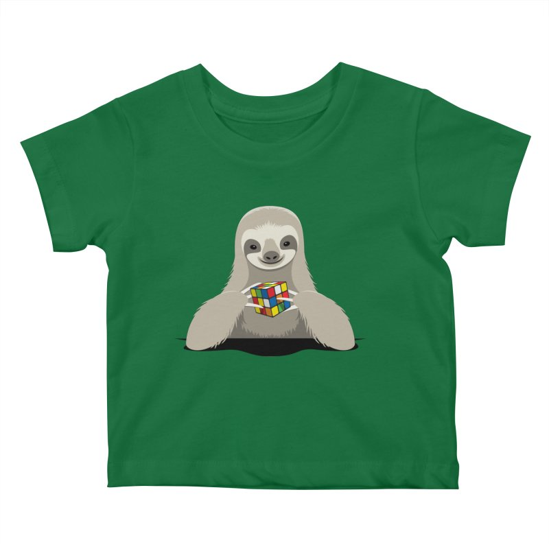 Speed Cuber Kids Baby T-Shirt by Glennz