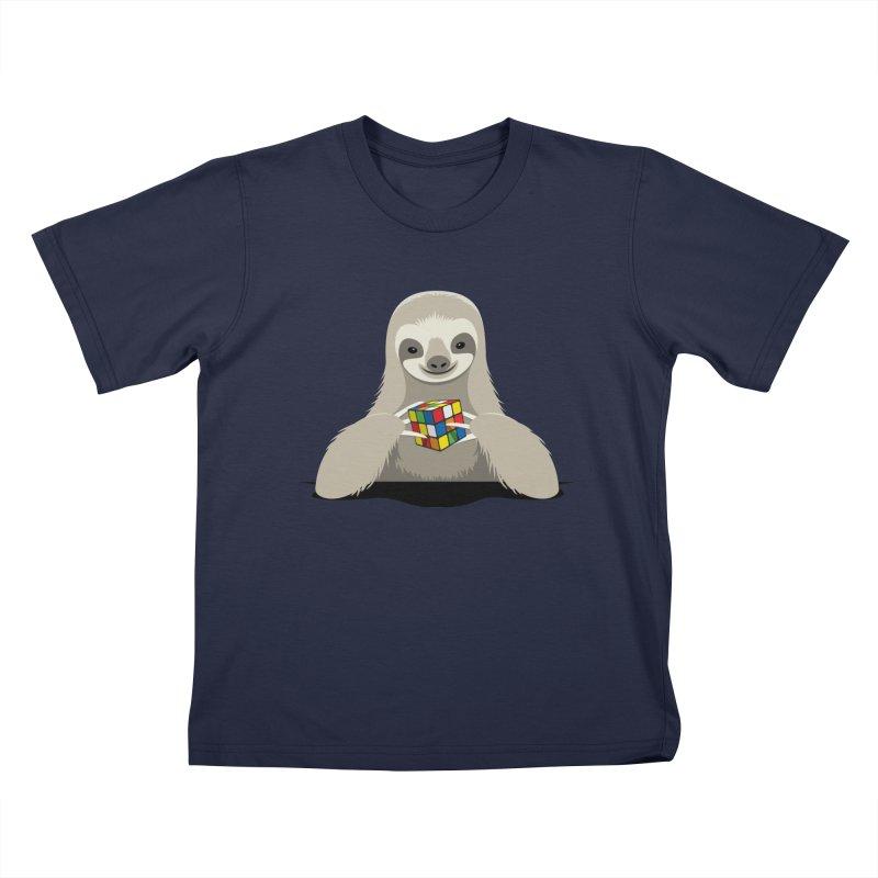 Speed Cuber Kids T-Shirt by Glennz