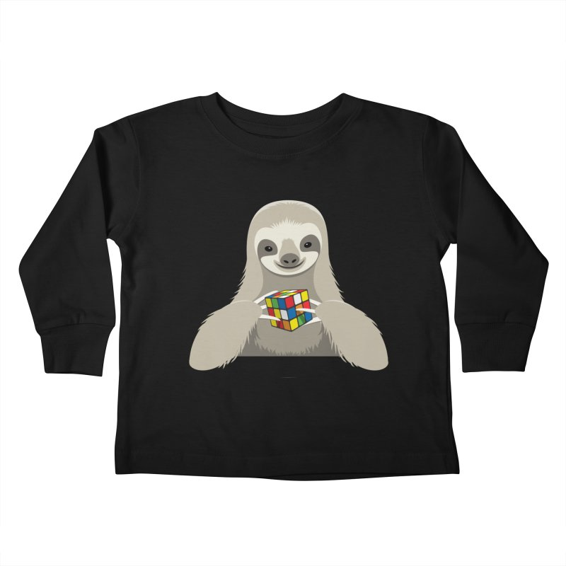 Speed Cuber Kids Toddler Longsleeve T-Shirt by Glennz