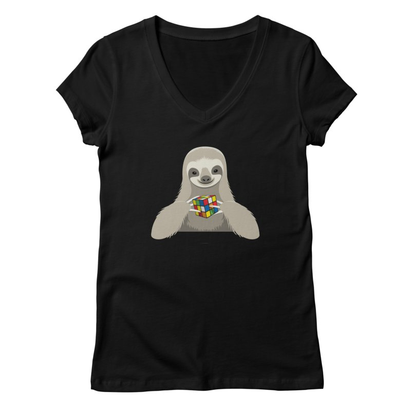 Speed Cuber Women's V-Neck by Glennz