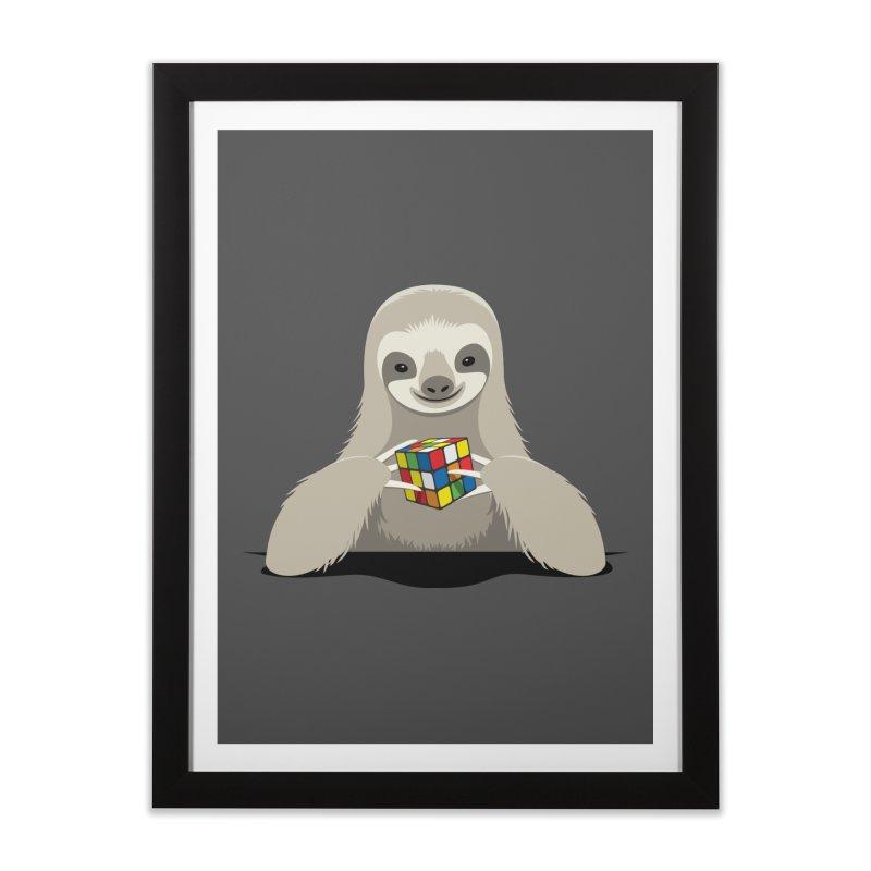 Speed Cuber Home Framed Fine Art Print by Glennz