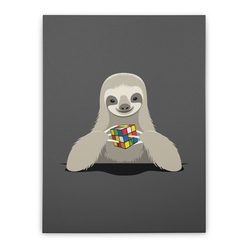 Speed Cuber Home Stretched Canvas by Glennz