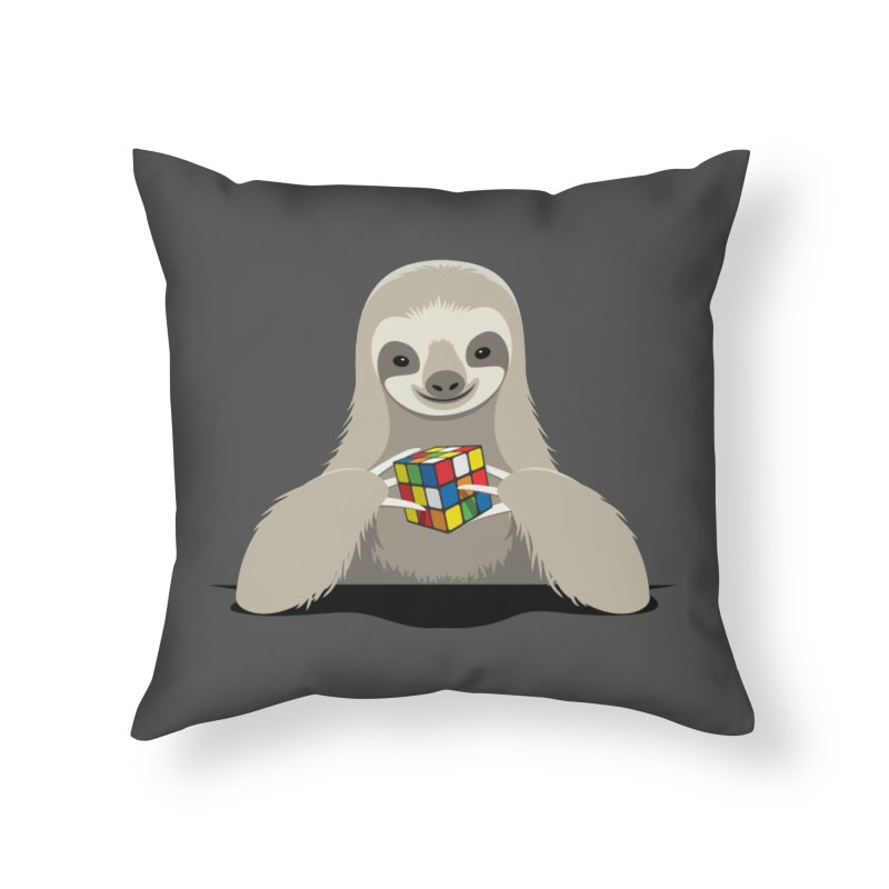 Speed Cuber Home Throw Pillow by Glennz