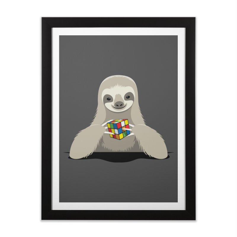 Speed Cuber Home Framed Fine Art Print by Glennz