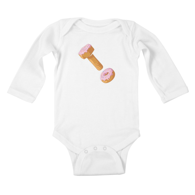 Donut and Bolt Kids Baby Longsleeve Bodysuit by glennz's Artist Shop
