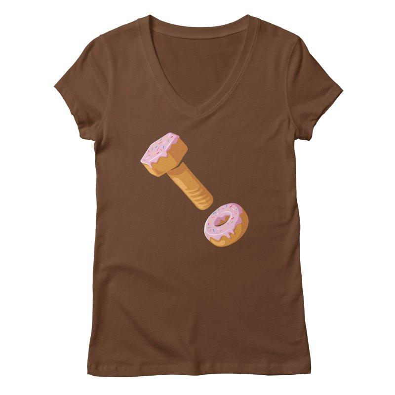 Donut and Bolt Women's V-Neck by glennz's Artist Shop