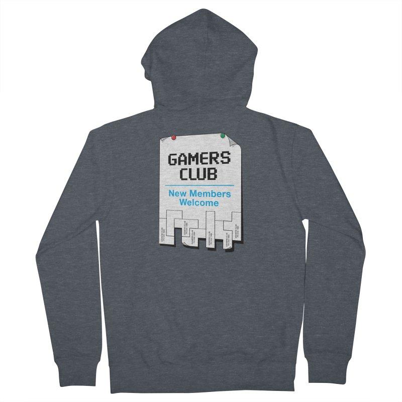 Gamer's Club Men's Zip-Up Hoody by glennz's Artist Shop