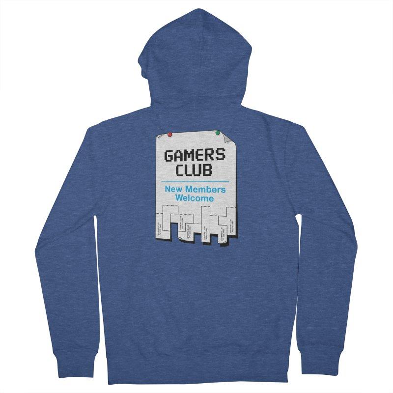 Gamer's Club Men's French Terry Zip-Up Hoody by glennz's Artist Shop