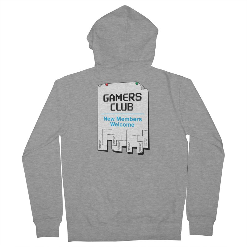 Gamer's Club Men's French Terry Zip-Up Hoody by glennz's Artist Shop