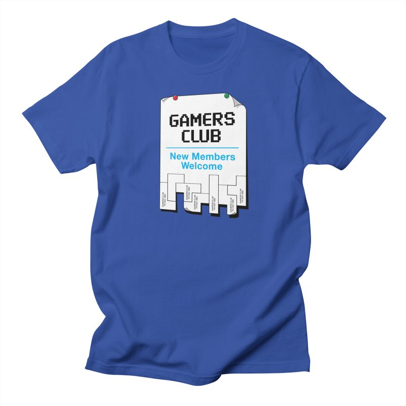 Gamer's Club in Men's T-shirt Royal Blue by glennz's Artist Shop