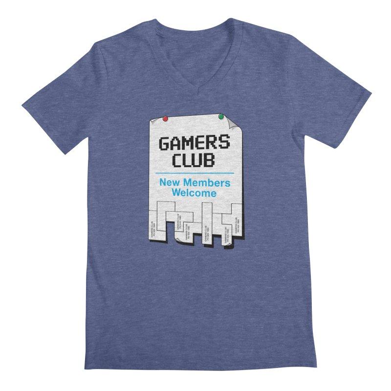 Gamer's Club Men's V-Neck by glennz's Artist Shop