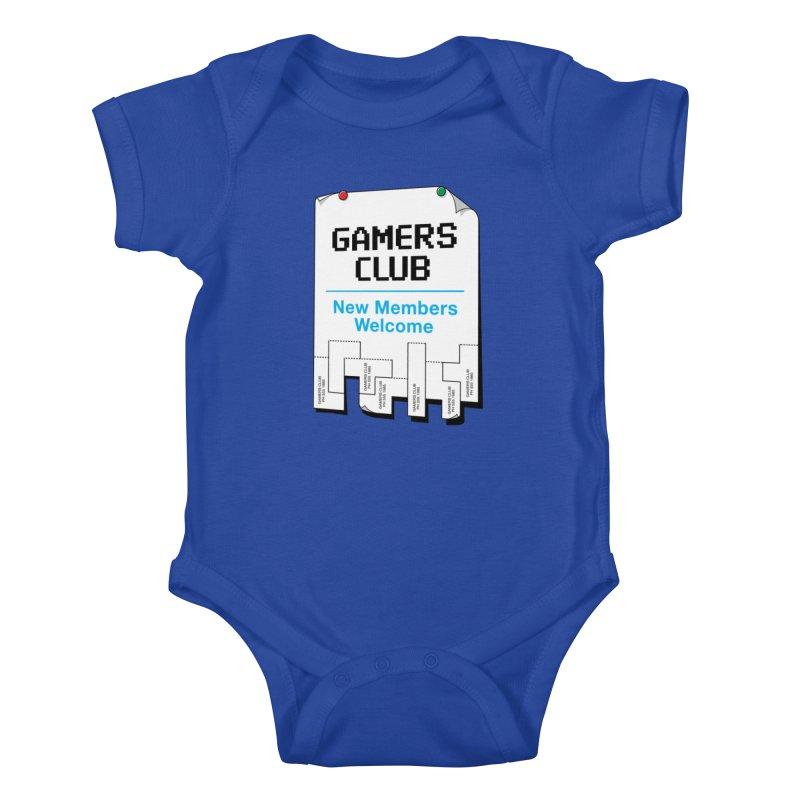 Gamer's Club Kids Baby Bodysuit by glennz's Artist Shop