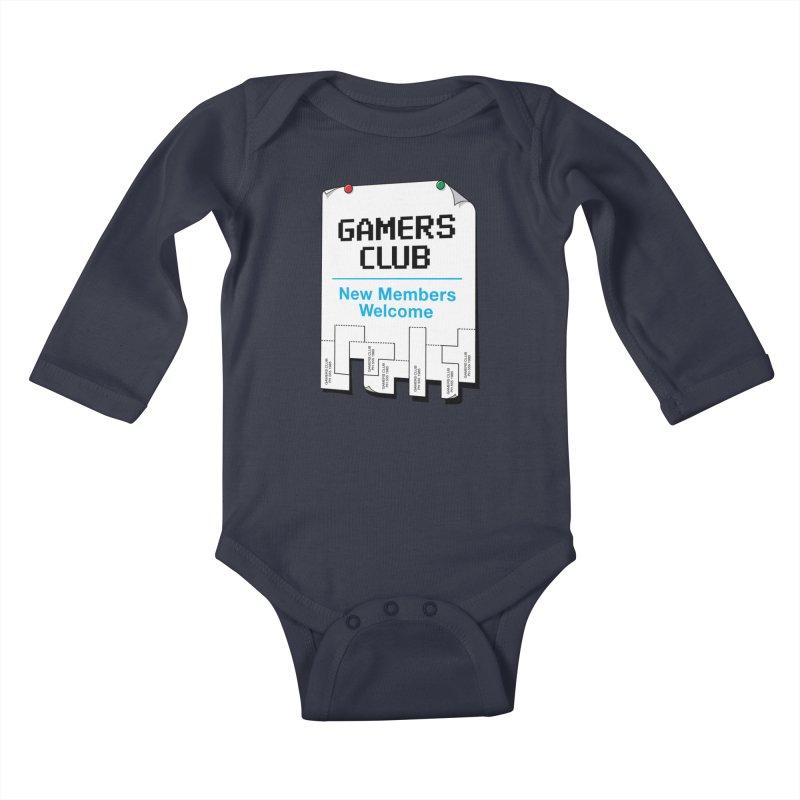 Gamer's Club Kids Baby Longsleeve Bodysuit by glennz's Artist Shop
