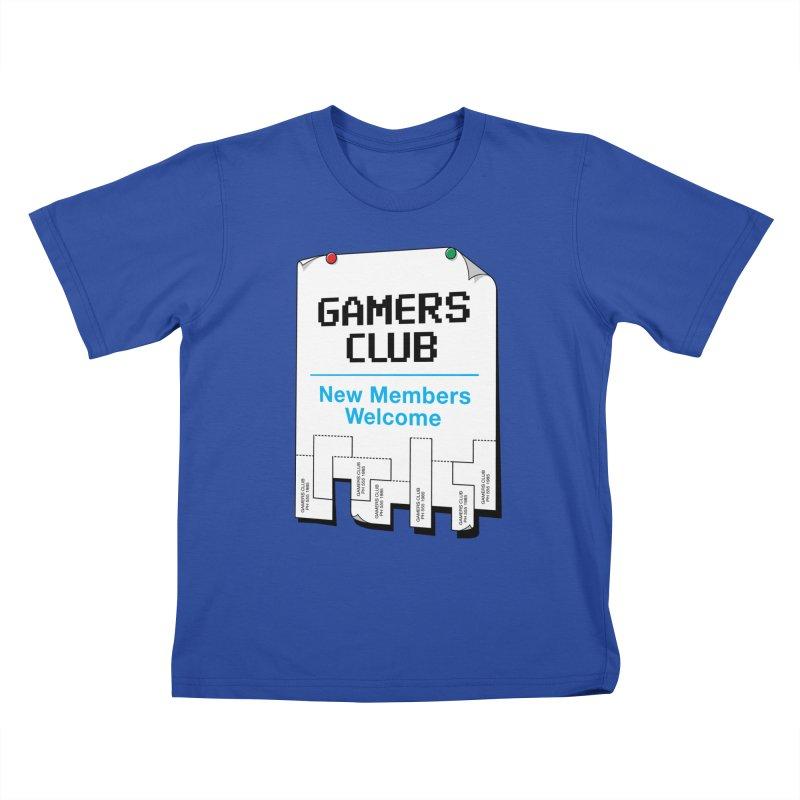 Gamer's Club Kids T-Shirt by glennz's Artist Shop