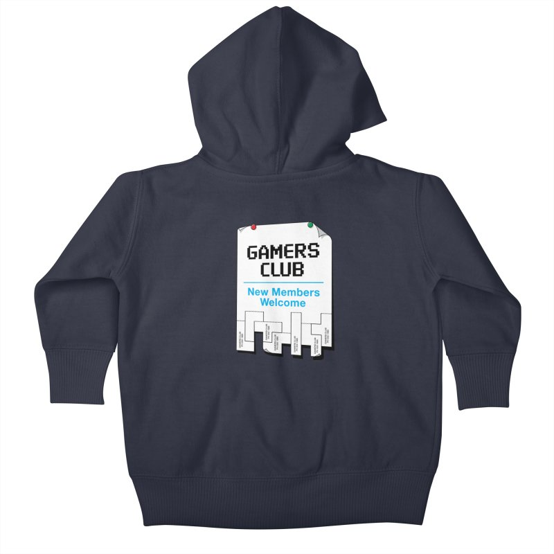Gamer's Club Kids Baby Zip-Up Hoody by glennz's Artist Shop