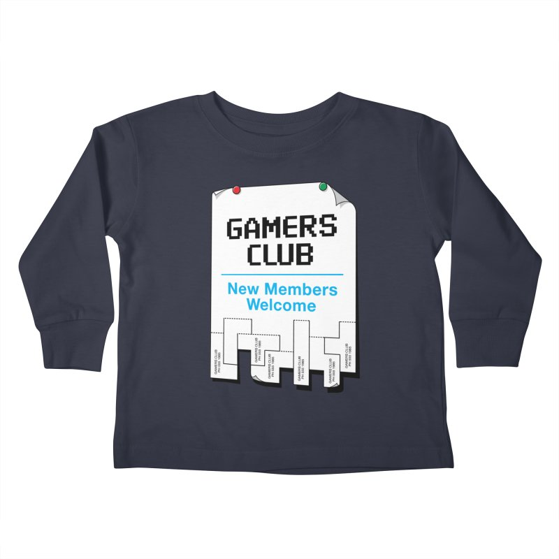 Gamer's Club Kids Toddler Longsleeve T-Shirt by glennz's Artist Shop