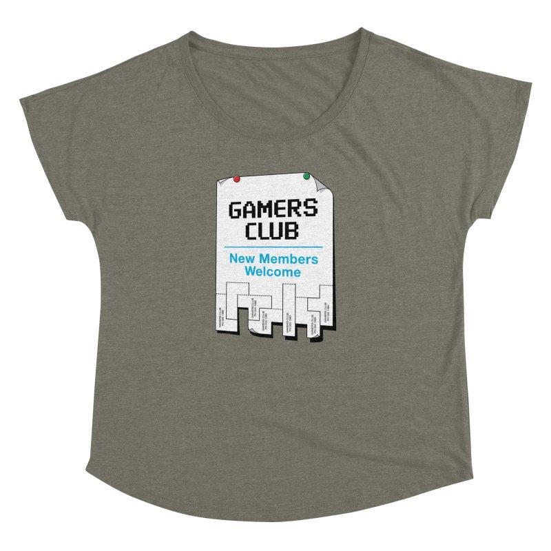 Gamer's Club Women's Dolman Scoop Neck by glennz's Artist Shop