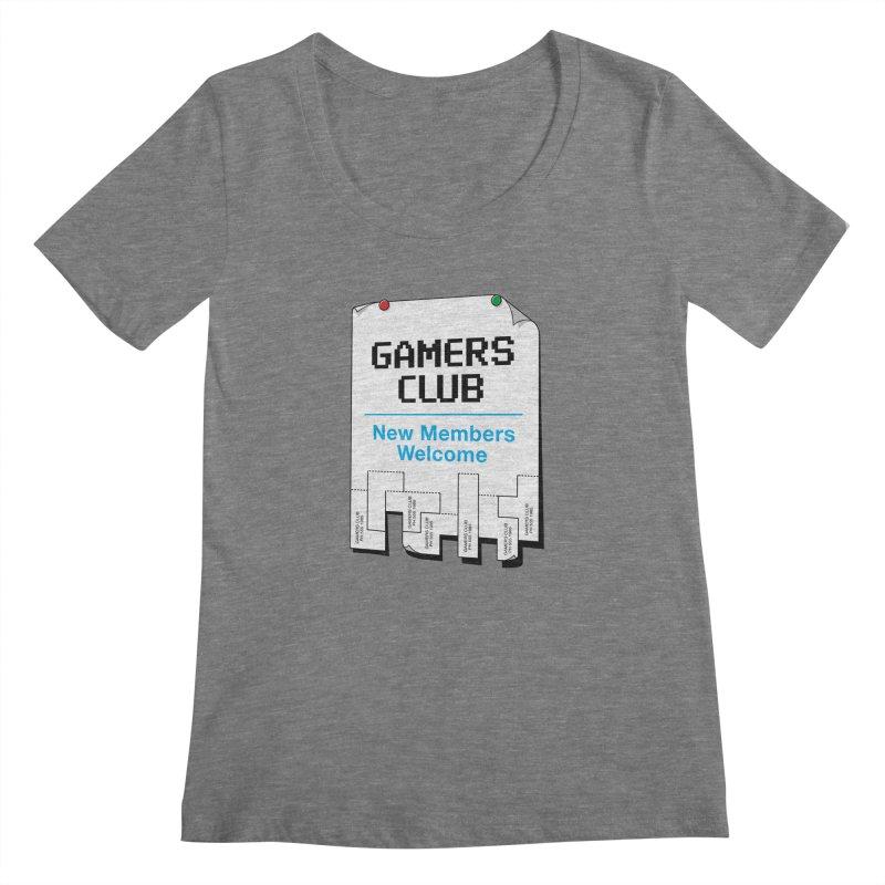 Gamer's Club Women's Scoopneck by glennz's Artist Shop